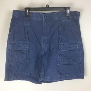 cabelas 7 pocket hiker mens blue shorts 36